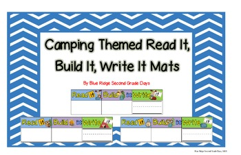Camping Themed Read It, Build It, and Write It Mats
