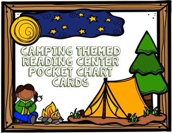 Camping Themed Literacy Center Cards