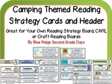 Camping Themed Reading Strategy Cards-Make Your Own Strategy Board Cafe or Craft