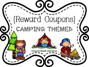 Camping Themed Reward Coupons