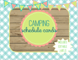 Camping Themed Schedule Cards - Editable