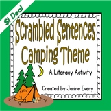 Camping Themed Scrambled Sentences