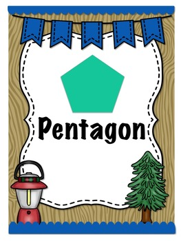Camping Themed Shape Posters