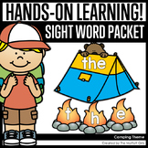 Camping Themed Sight Word Packet