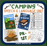 Camping Themed Speech and Language Unit! + Google Slides Options