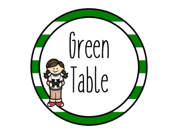 Camping Themed Table Markers