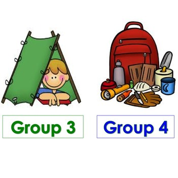 Camping Themed Table/Group Numbers