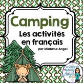 Camping Themed Vocabulary Activities in French