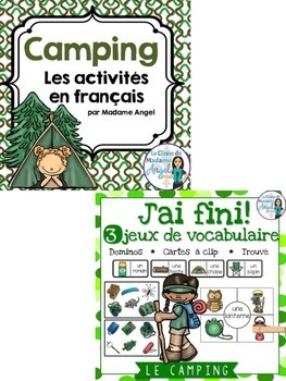 Camping Themed Vocabulary BUNDLE in French
