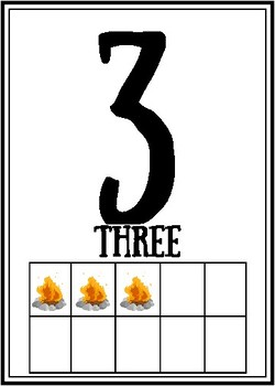Camping Themed Wall Number Posters 0-20