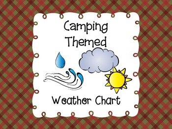 Camping Themed Weather Chart