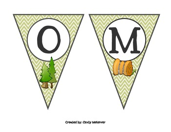 Camping Themed Welcome Banner