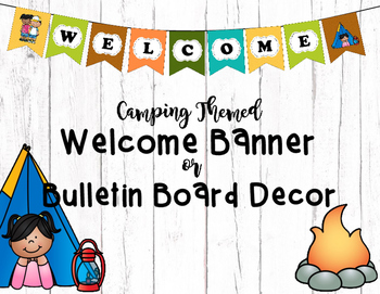 "Camping Themed ""Welcome"" Banner or Bulletin Board Decor"