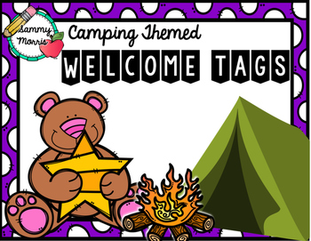 Camping Themed Welcome Tags