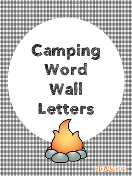 Camping Themed Word Wall Header
