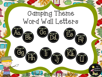 Word Wall Letters: Camping Theme