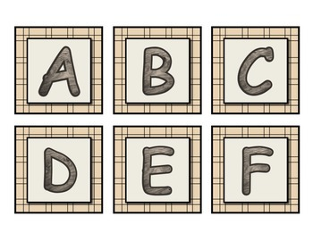 Camping Word Wall Set