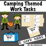 Camping Themed Work Tasks