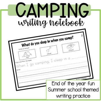Camping Themed Writing Notebook