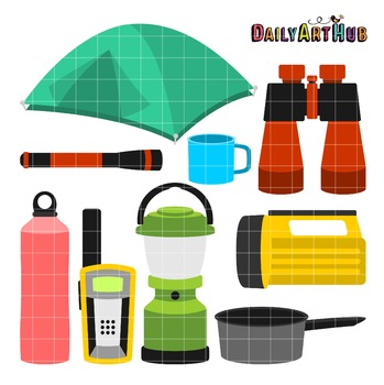 Camping Things Art Clip Art - Great for Art Class Projects!