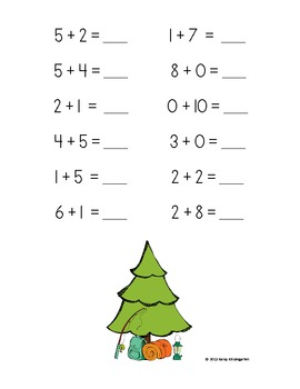 Camping Time Addition Practice Packet (Sums of 0-10)