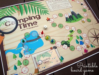 Camping Time: Printable Board Game