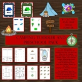 Camping Toddler and Preschool Pack  #TpTDistanceLearning