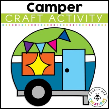 Camping Trailer Cut and Paste