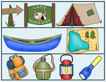 Camping Trip Bulletin Board Borders