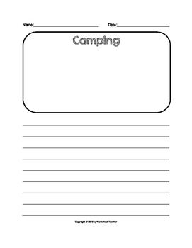 Camping Trip Lined Writing Paper Set