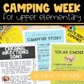 Camping Unit for Upper Elementary   Distance Learning