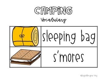 Camping Vocabulary Cards