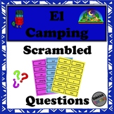 Camping Vocabulary Scrambled Questions (in Spanish)