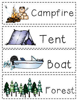 Camping Vocabulary Words