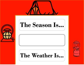 Camping Weather Chart! Camping Theme! Camping Bulletin Board!