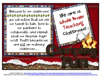 Camping Whole Brain Teaching Poster