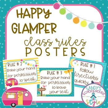 Camping Themed Classroom Printables: Editable Classroom Rules Posters