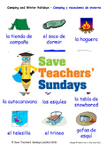 Camping & Winter Hols in Spanish Worksheets, Games, Activities and Flash Cards