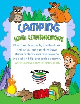 Camping With Contractions Game