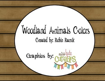 Camping Woodland Animals Colors