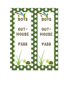 Camping / Woodland Bathroom (Outhouse) Passes