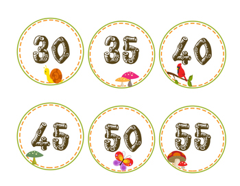 Camping / Woodland Clock Numbers