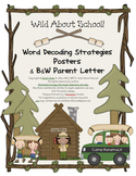 Camping Word Decoding Strategies Posters