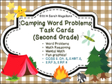 Math Task Cards: Word Problems- Camping (Second Grade)