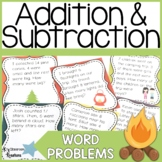 Camping Themed Addition and Subtraction Word Problems