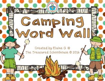Camping Word Wall