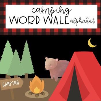 Camping Word Wall Alphabet Headers