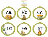 Camping Word Wall Letter Cards