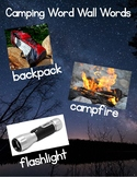 Camping Word Wall Words