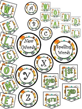Camping Word Wall and Welcome Set